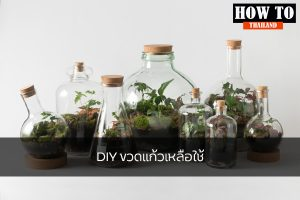 DIY ขวดแก้วเหลือใช้ DIY HOWTO เคล็ดลับ DIYขวดแก้วเหลือใช้